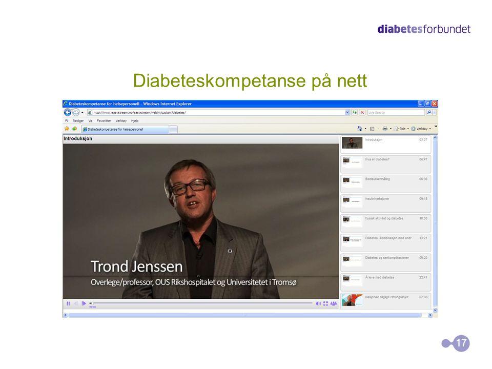 Diabeteskompetanse på nett