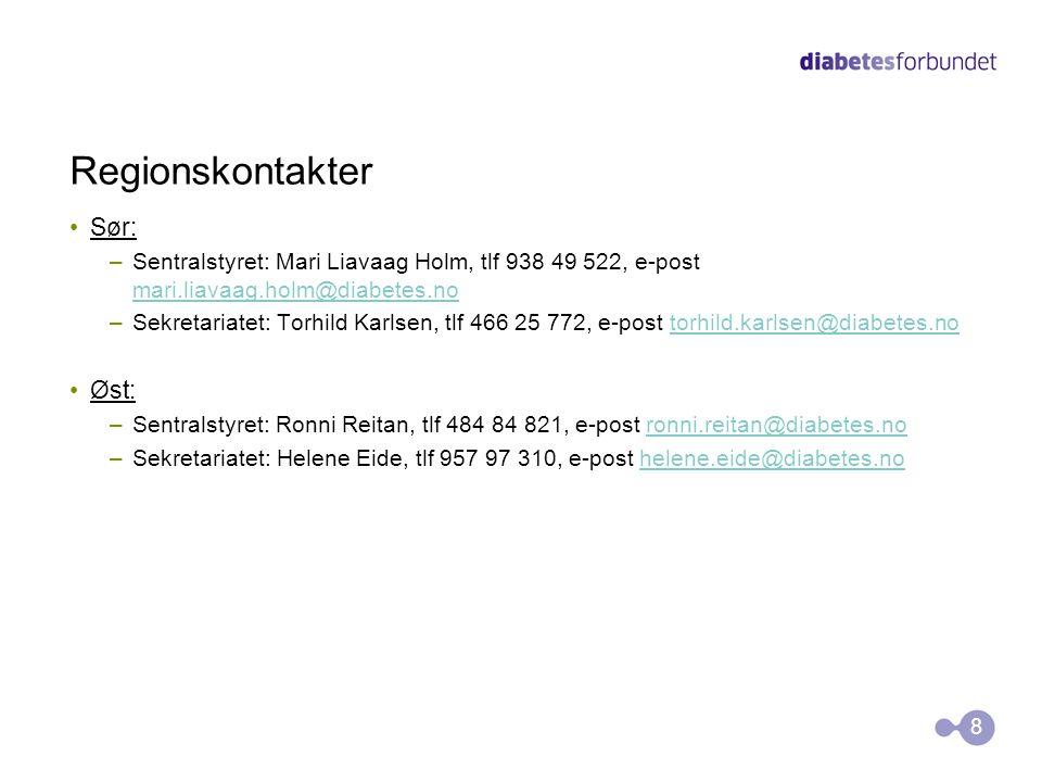 Regionskontakter Sør: Øst: