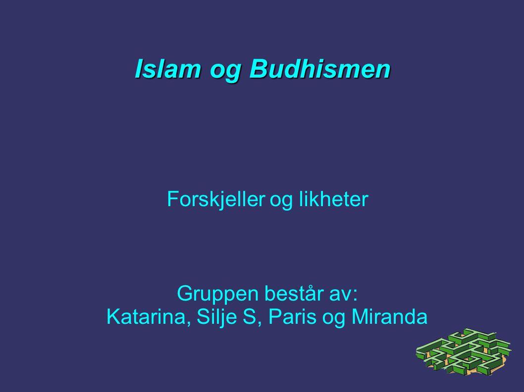 Islam og Budhismen Forskjeller og likheter Gruppen består av: