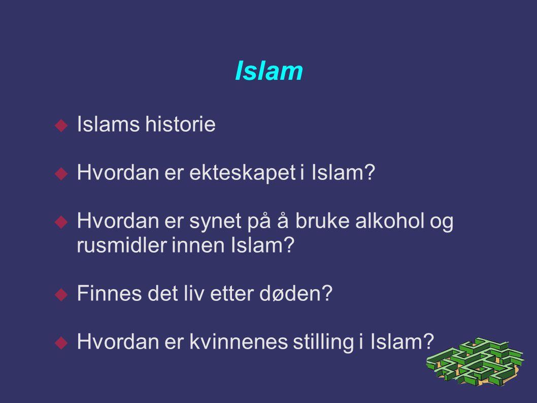 Islam Islams historie Hvordan er ekteskapet i Islam
