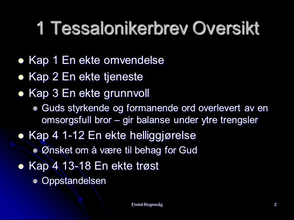 1 Tessalonikerbrev Oversikt