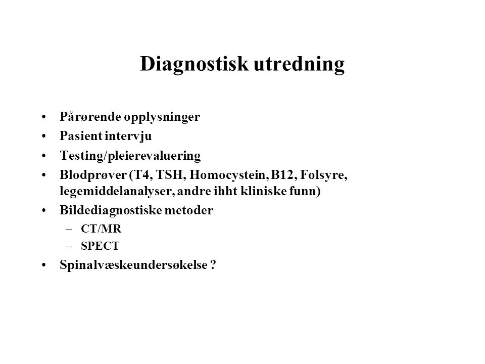 Diagnostisk utredning
