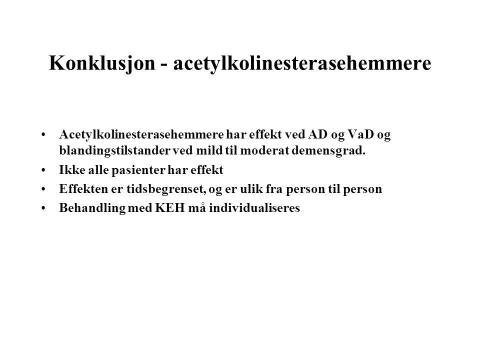 Konklusjon - acetylkolinesterasehemmere