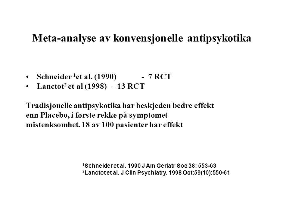 Meta-analyse av konvensjonelle antipsykotika