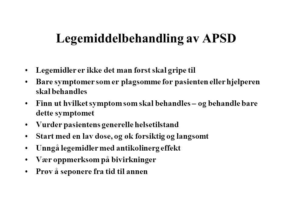 Legemiddelbehandling av APSD