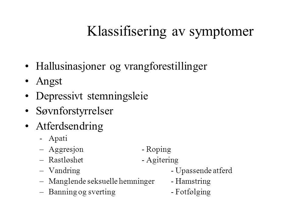 Klassifisering av symptomer