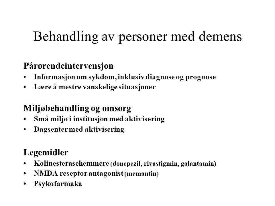 Behandling av personer med demens