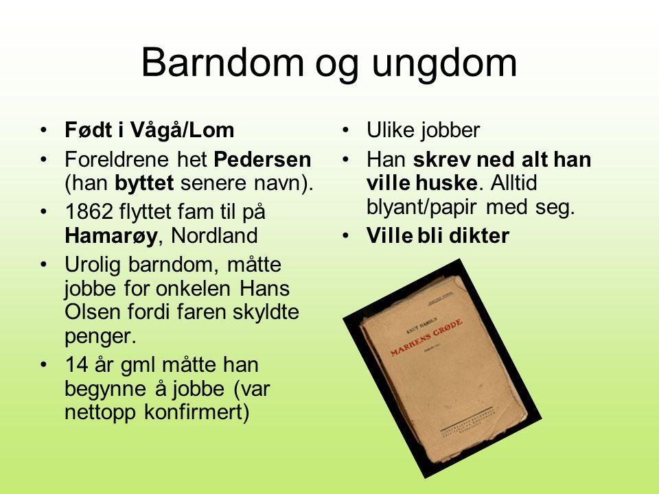 Barndom og ungdom Født i Vågå/Lom