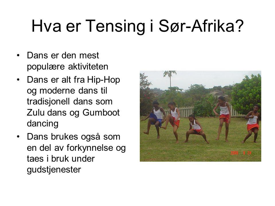 Hva er Tensing i Sør-Afrika
