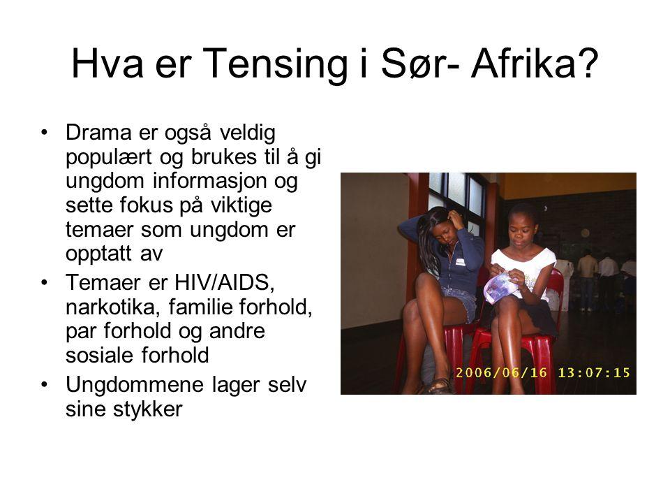 Hva er Tensing i Sør- Afrika
