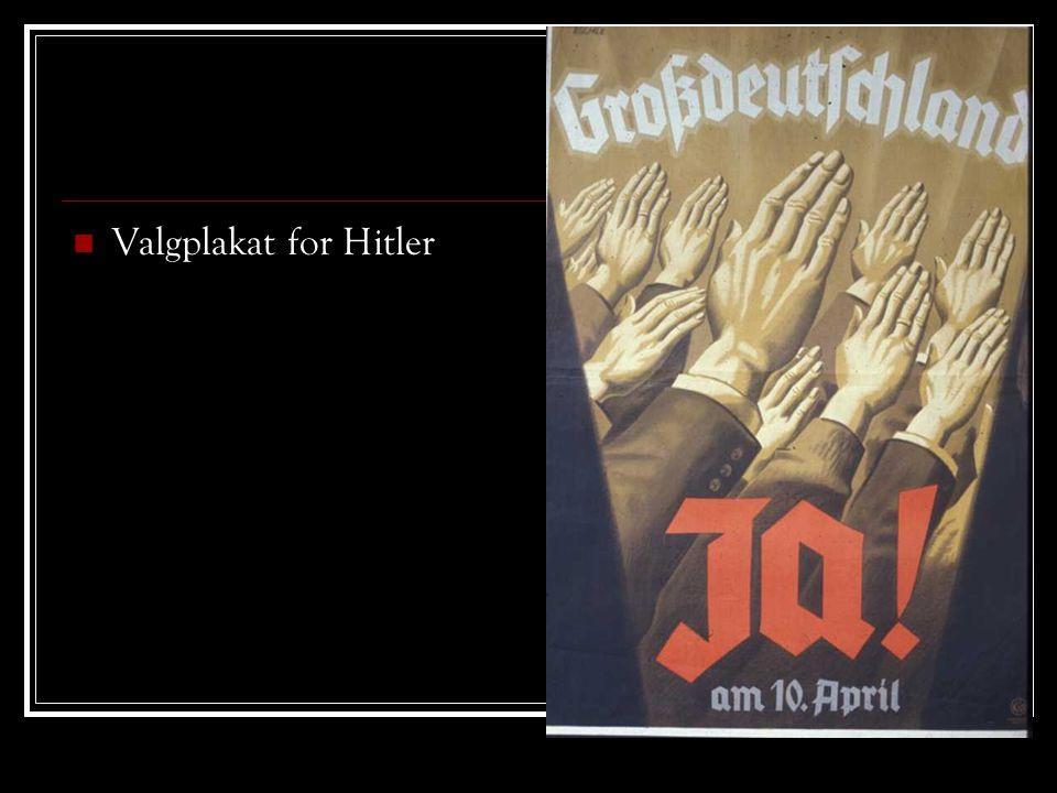 Valgplakat for Hitler