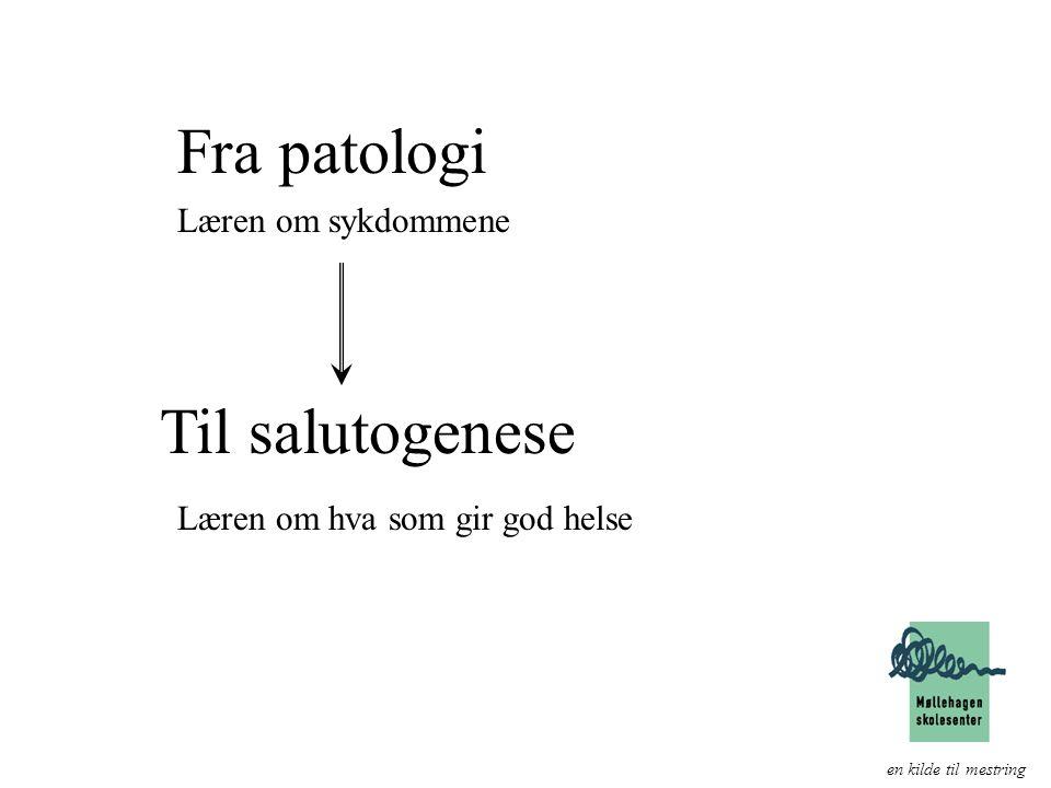 Fra patologi Til salutogenese Læren om sykdommene