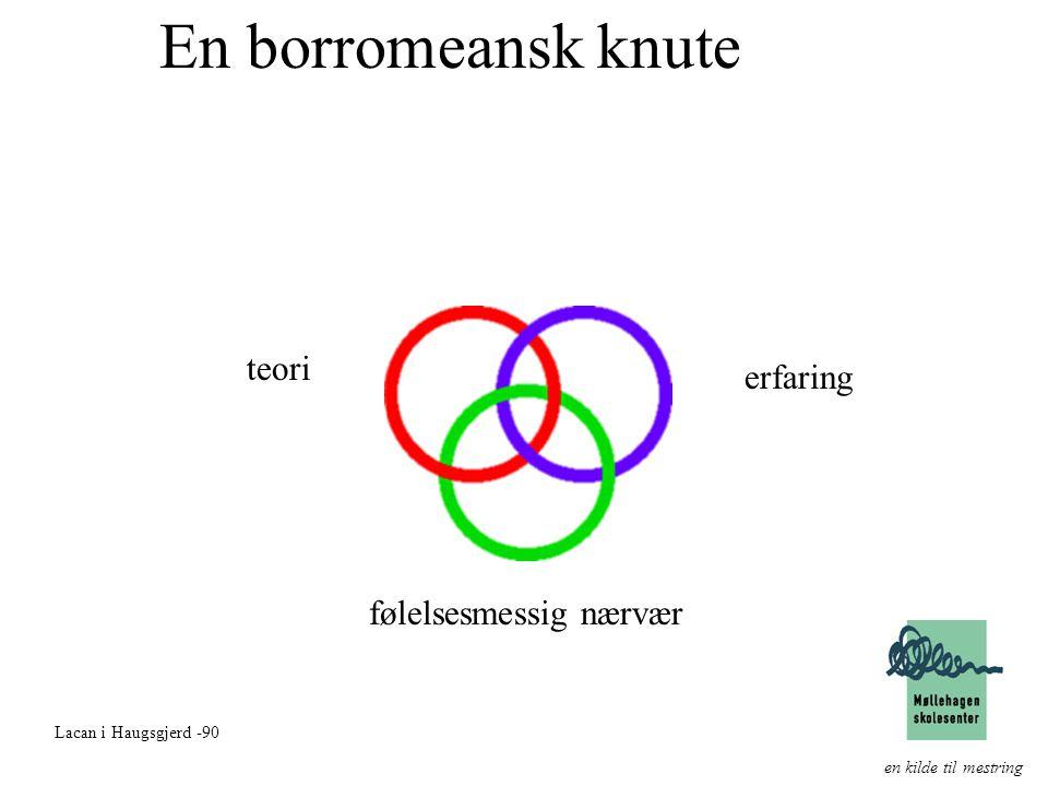 En borromeansk knute teori erfaring følelsesmessig nærvær