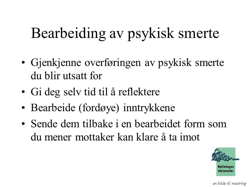 Bearbeiding av psykisk smerte