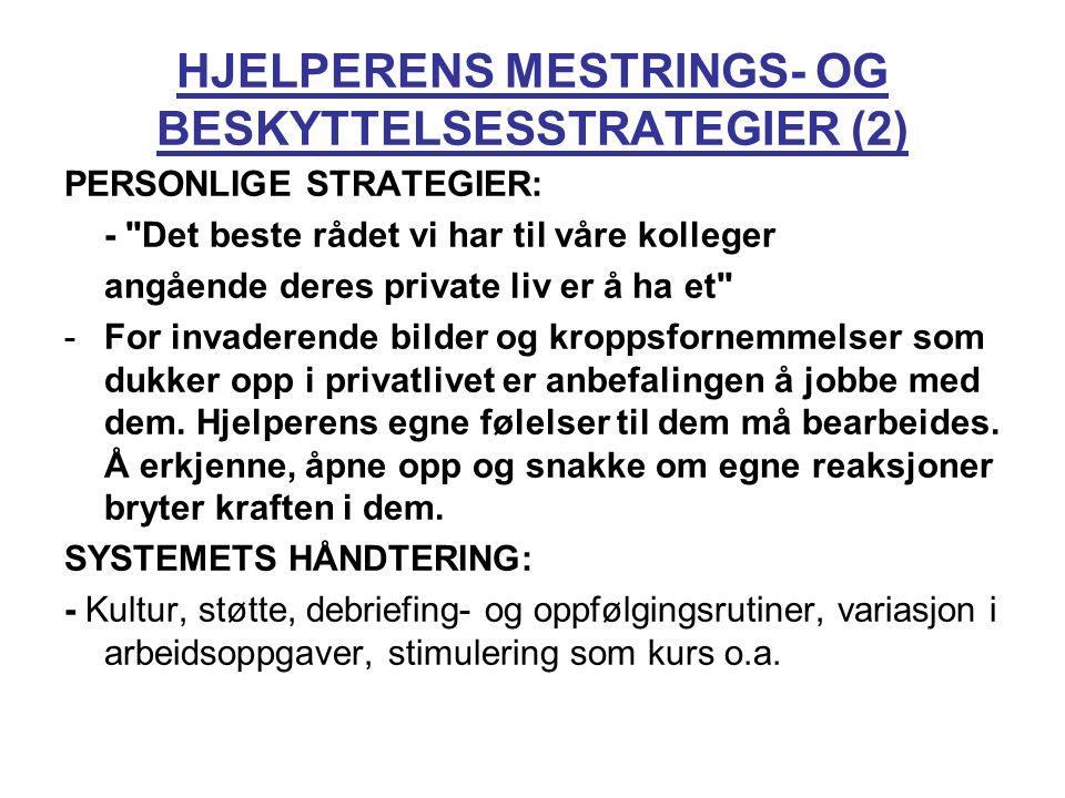 HJELPERENS MESTRINGS- OG BESKYTTELSESSTRATEGIER (2)
