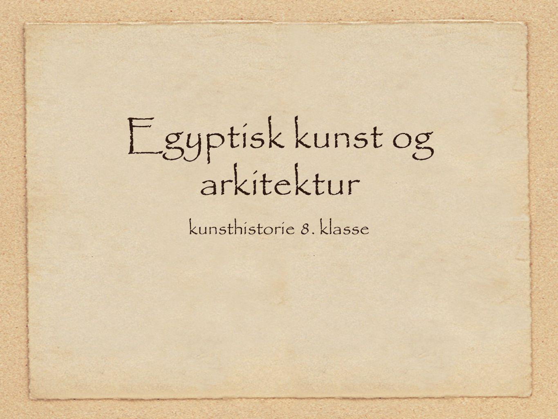 Egyptisk kunst og arkitektur