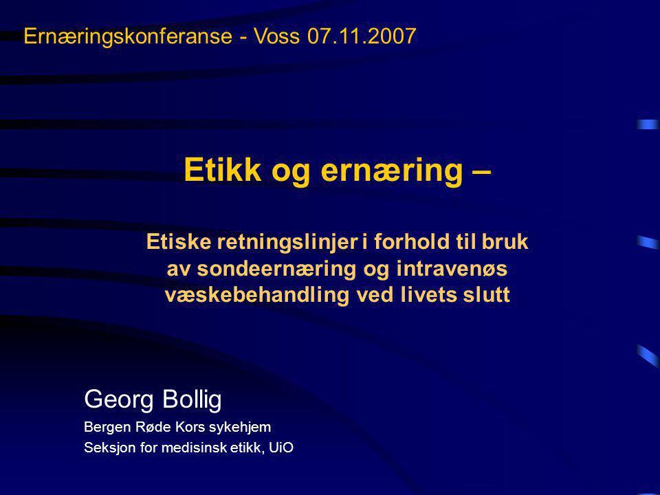 Ernæringskonferanse - Voss 07.11.2007