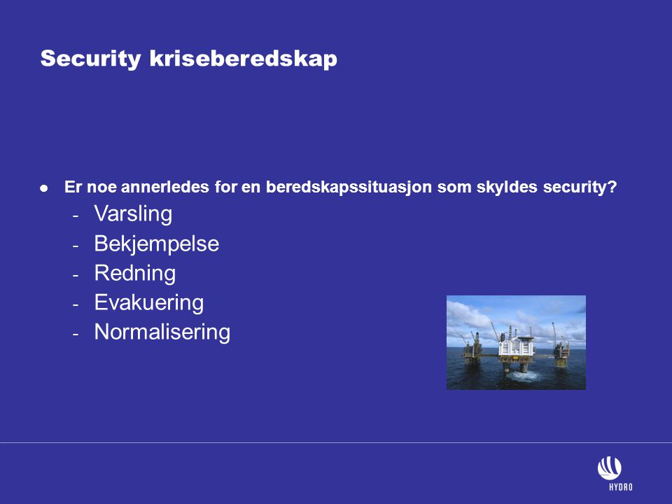 Security kriseberedskap