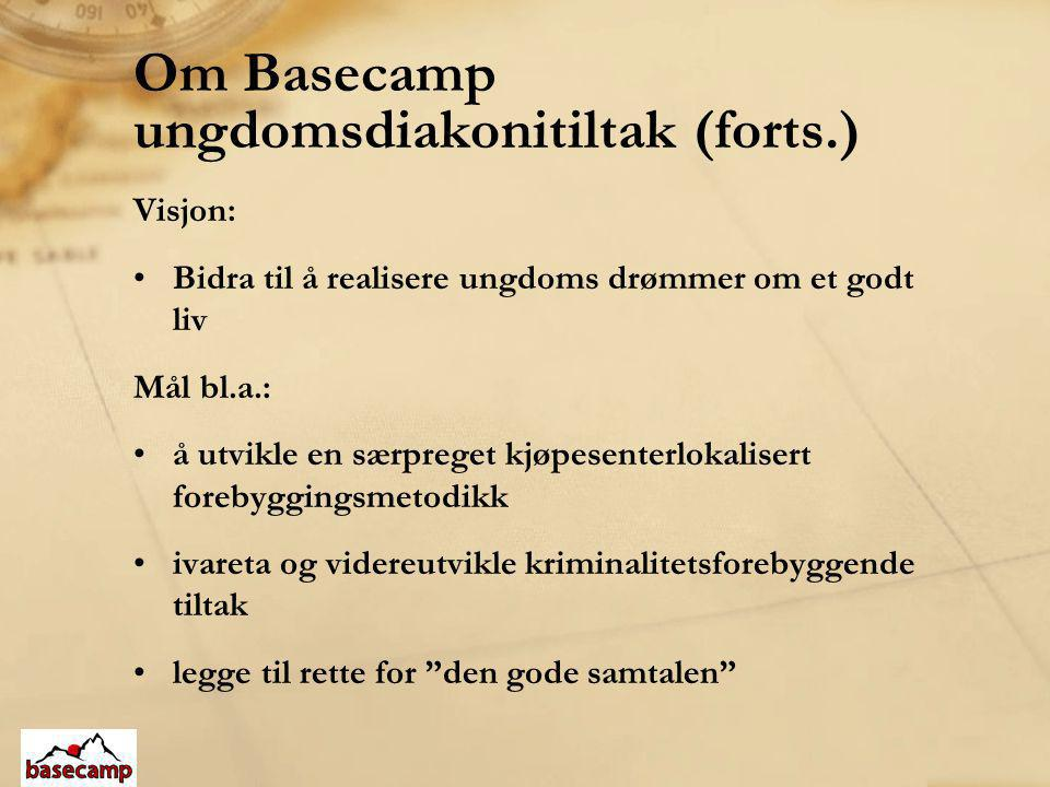 Om Basecamp ungdomsdiakonitiltak (forts.)