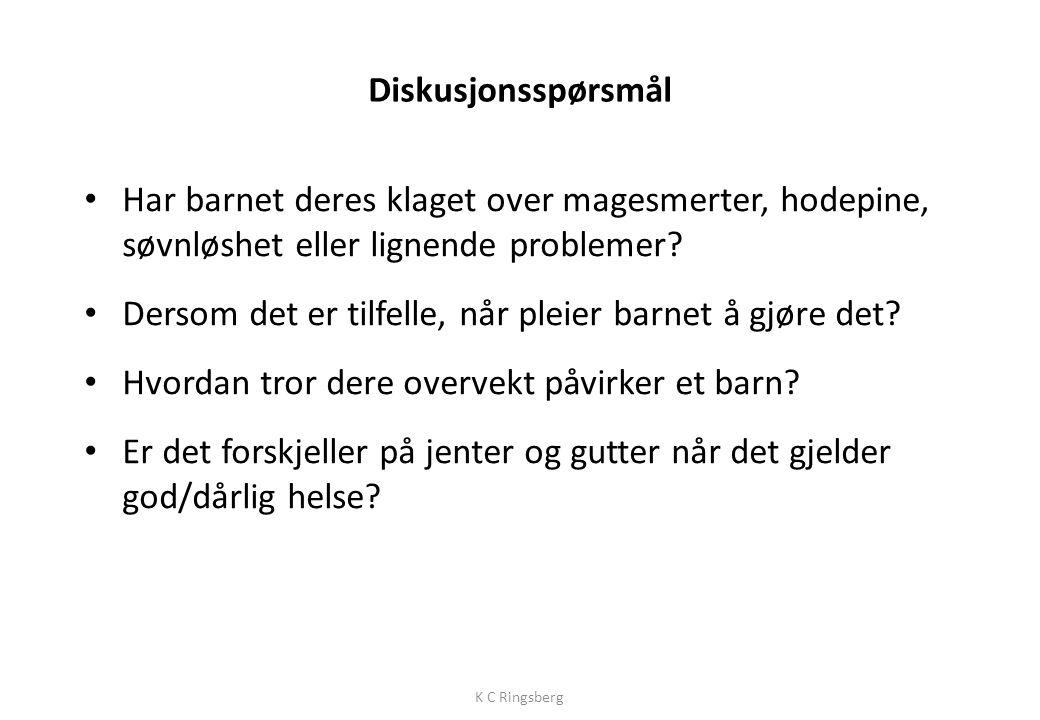 Tabell 4. Andelen nordiske barn med overvekt, fordelt på aldersgruppene 2–6 år og 2–17 år.