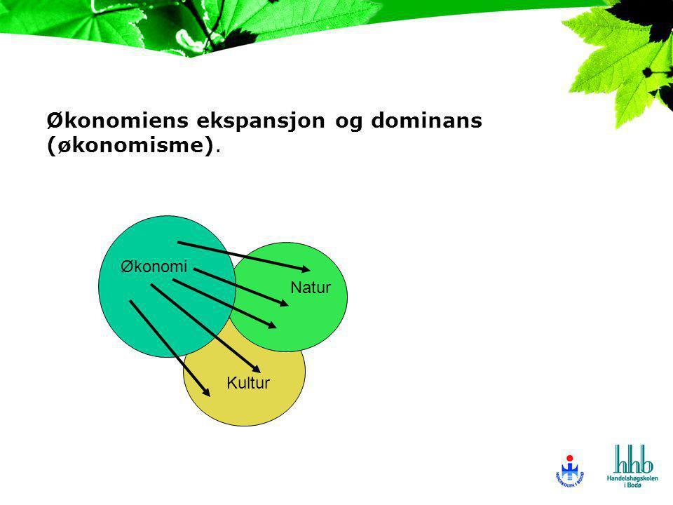 Økonomiens ekspansjon og dominans (økonomisme).