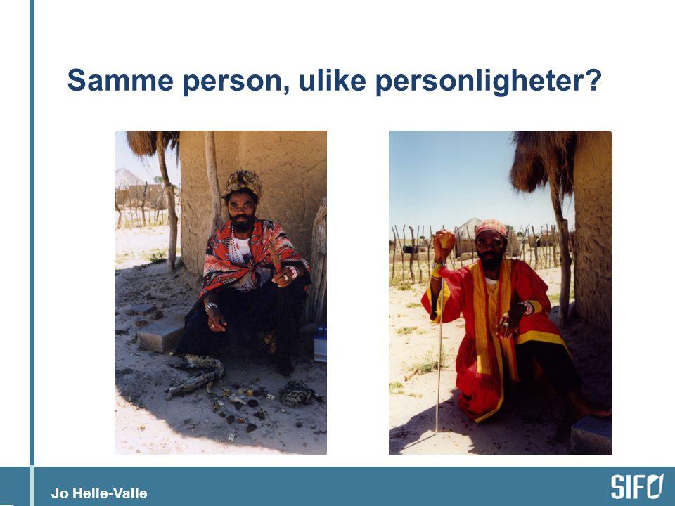 Samme person, ulike personligheter