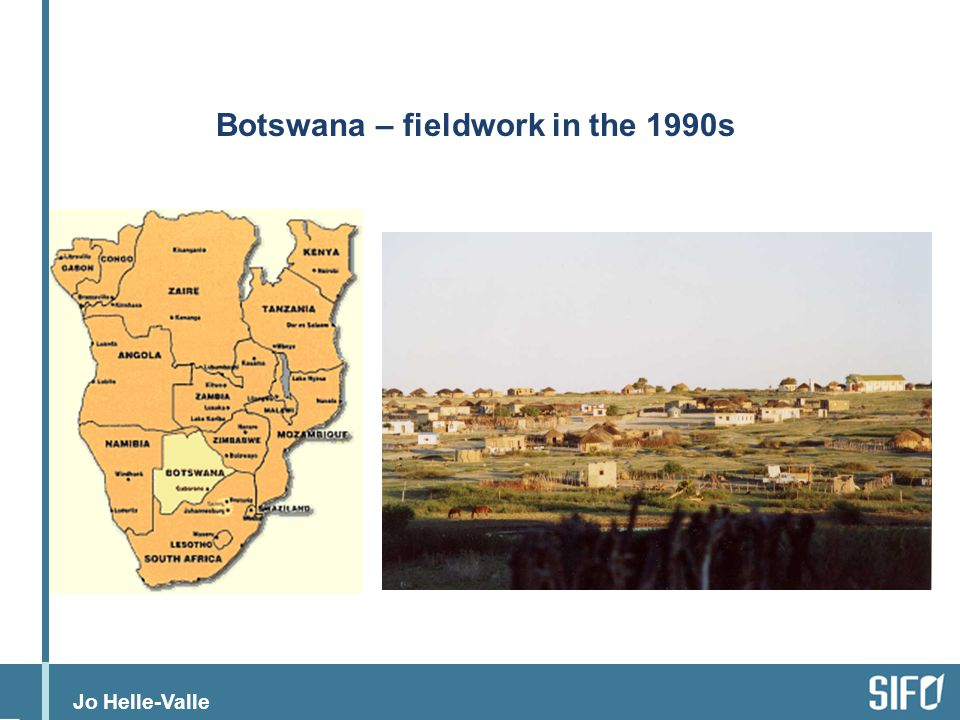 Botswana – fieldwork in the 1990s