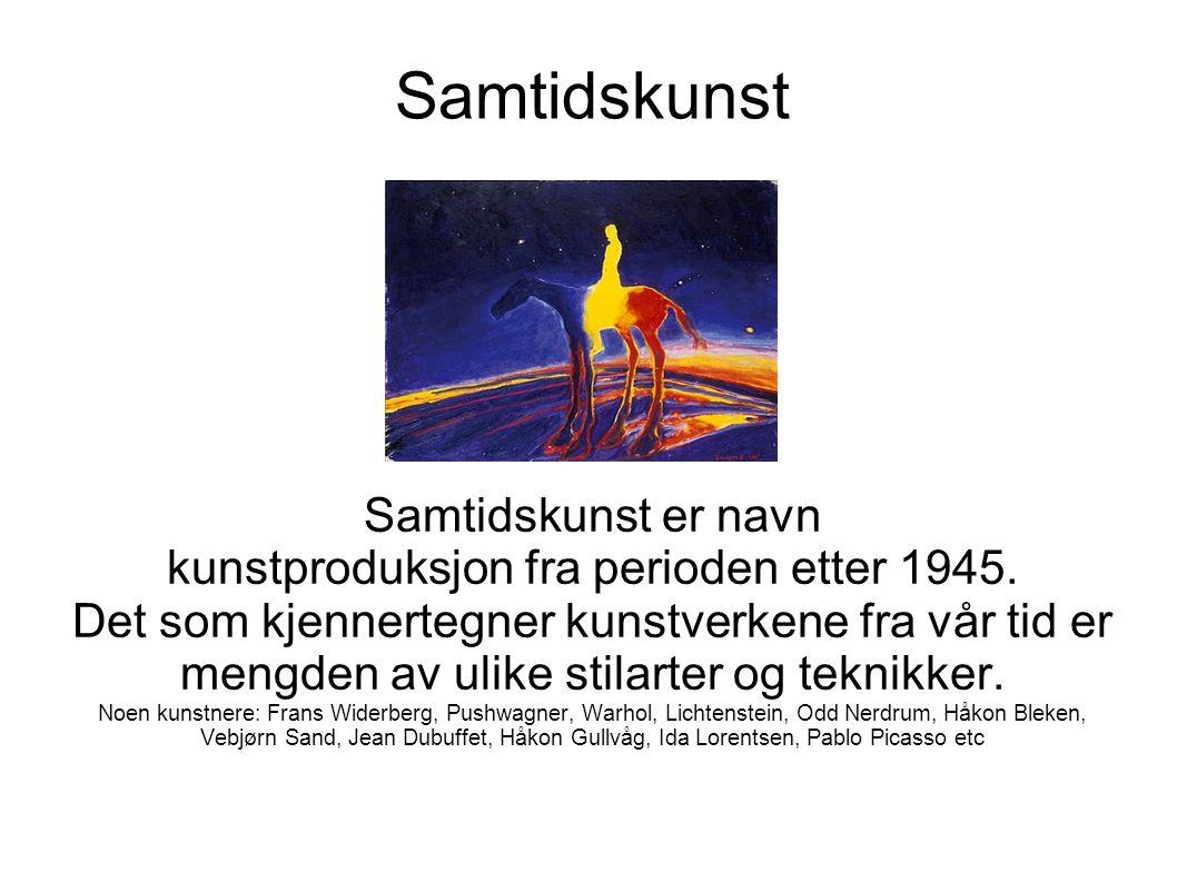 kunstproduksjon fra perioden etter 1945.
