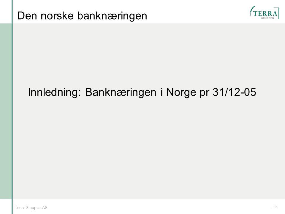Den norske banknæringen