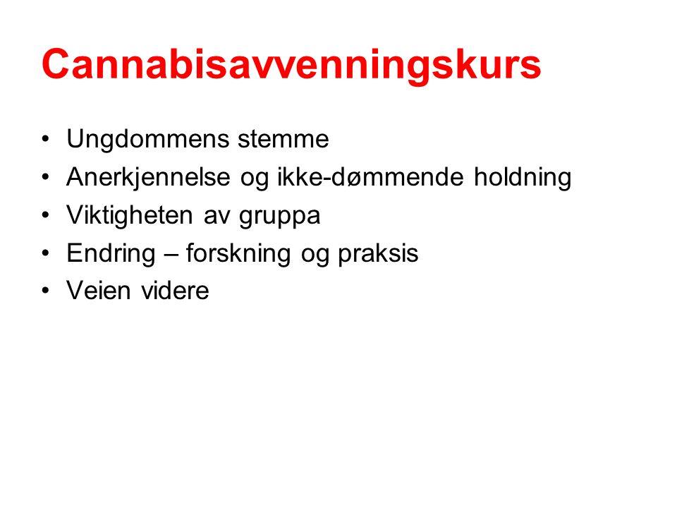 Cannabisavvenningskurs