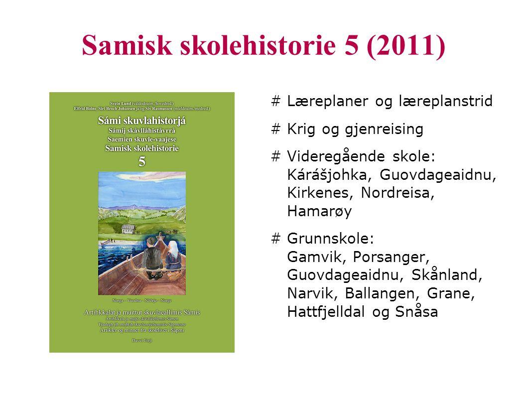 Samisk skolehistorie 5 (2011)