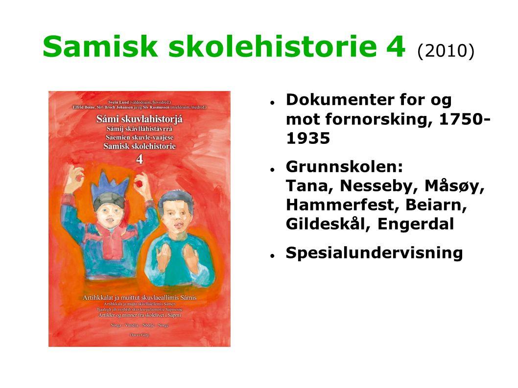 Samisk skolehistorie 4 (2010)