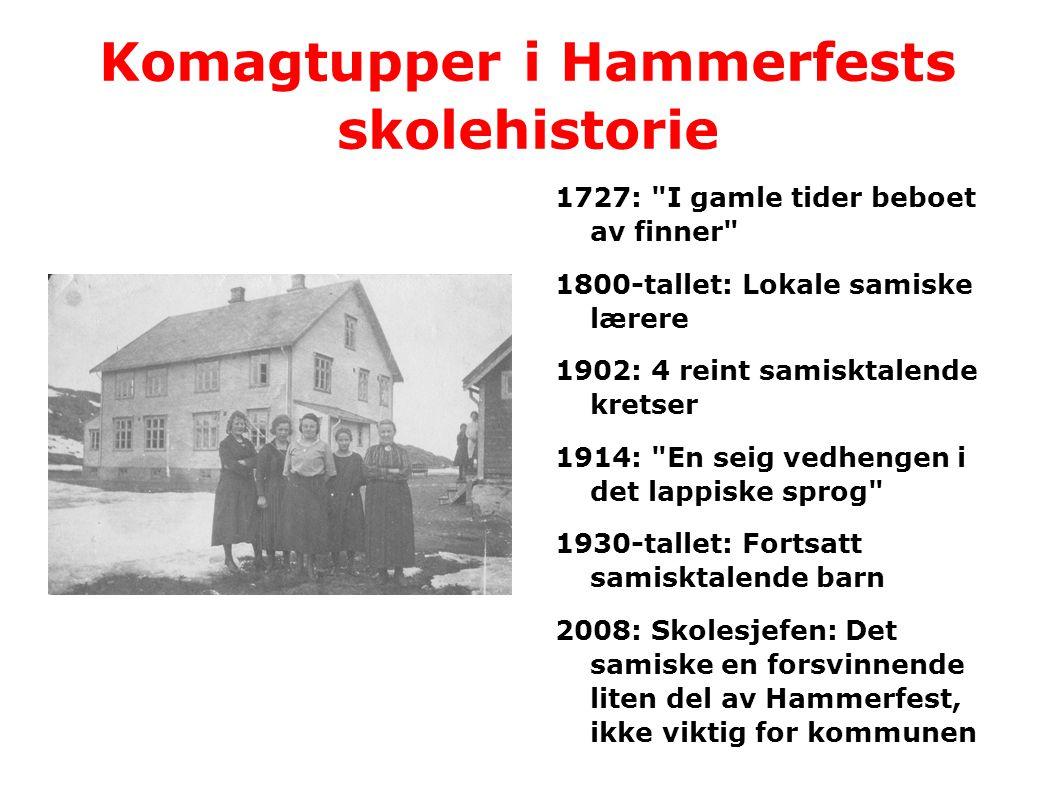 Komagtupper i Hammerfests skolehistorie
