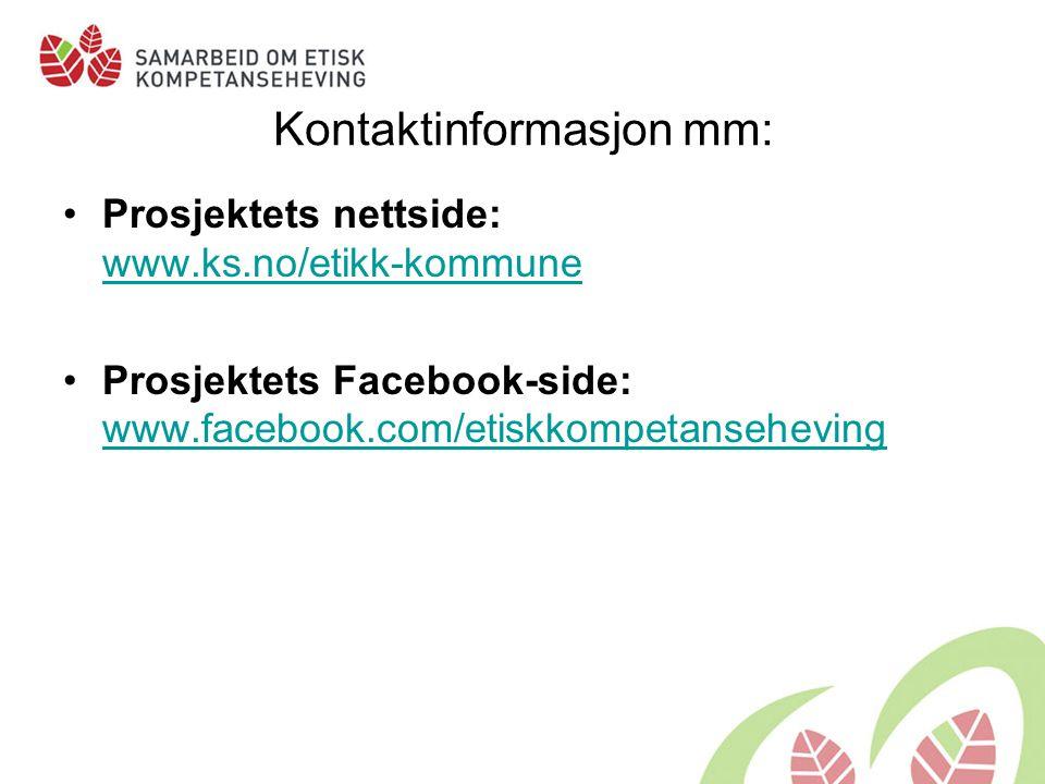 Kontaktinformasjon mm: