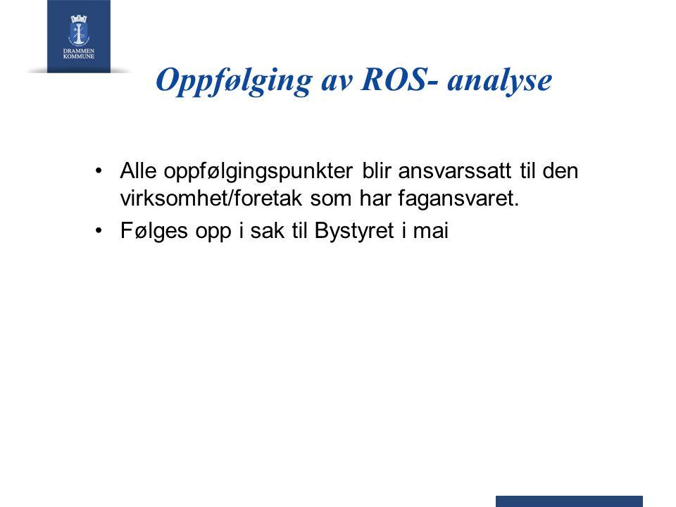 Oppfølging av ROS- analyse
