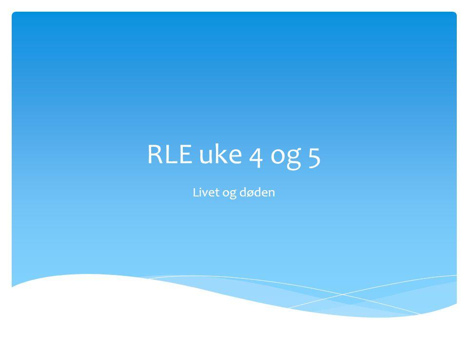RLE uke 4 og 5 Livet og døden