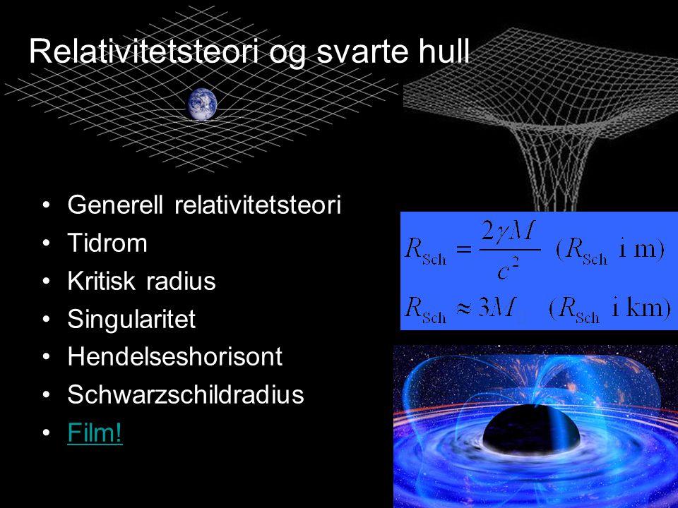 Relativitetsteori og svarte hull
