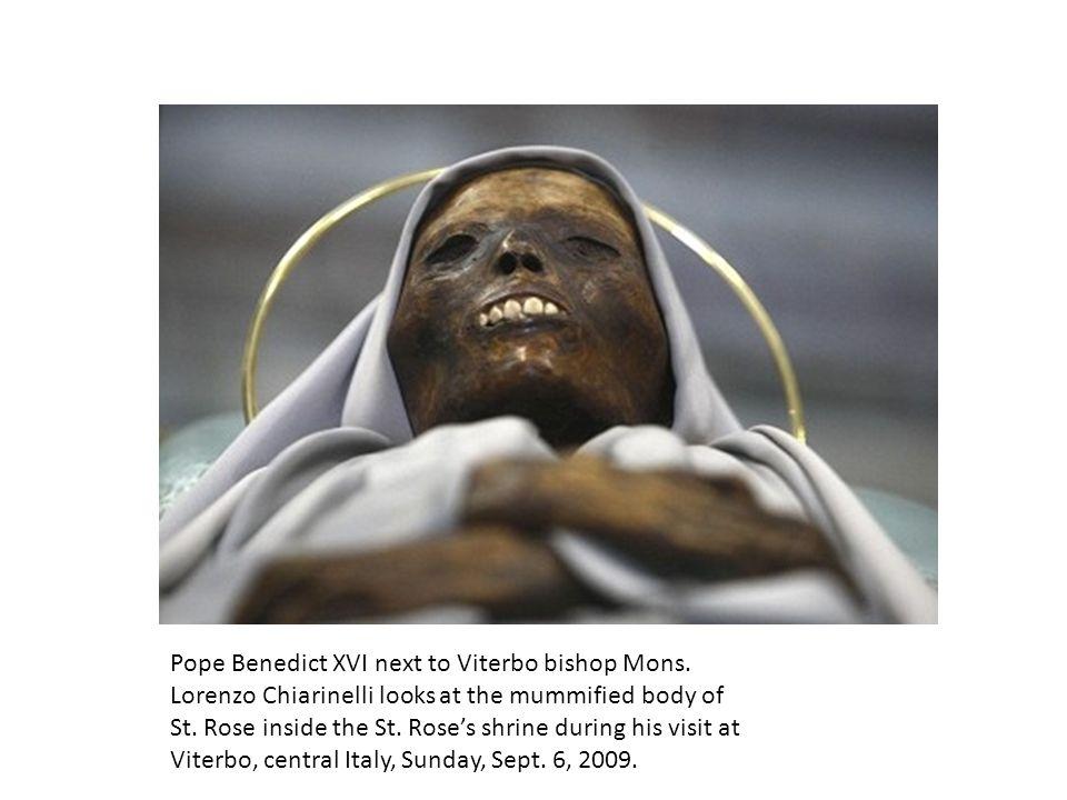 Pope Benedict XVI next to Viterbo bishop Mons