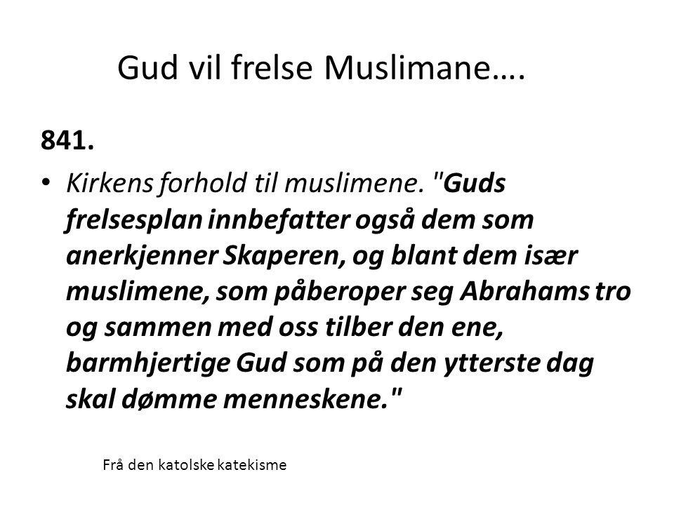 Gud vil frelse Muslimane….