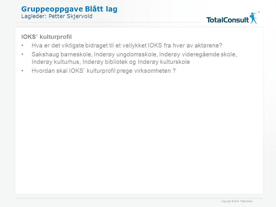 Gruppeoppgave Blått lag Lagleder: Petter Skjervold