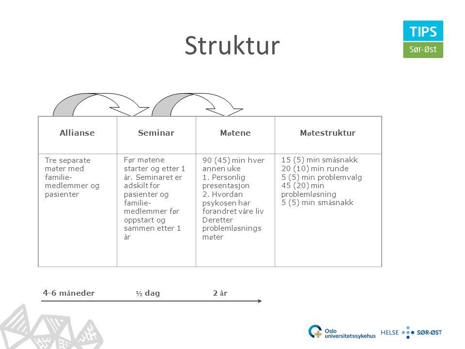 Struktur Allianse Seminar Møtene Møtestruktur