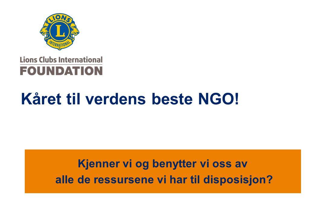 Kåret til verdens beste NGO!
