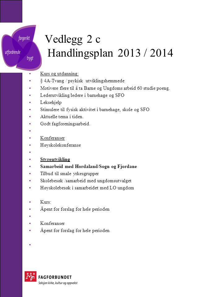 Vedlegg 2 c Handlingsplan 2013 / 2014