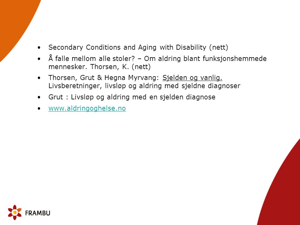 Secondary Conditions and Aging with Disability (nett)
