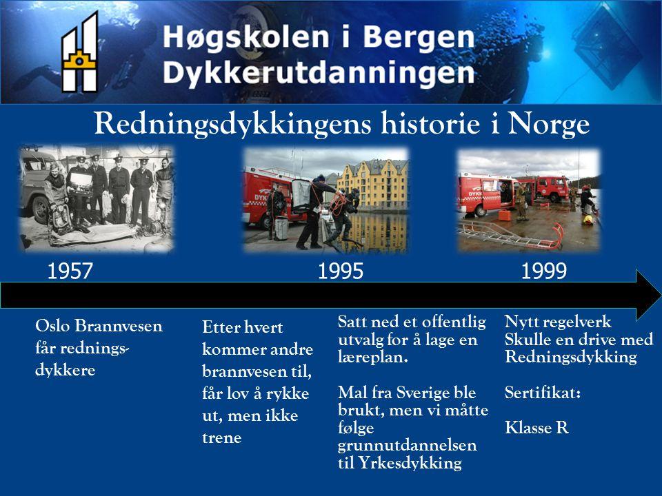 Redningsdykkingens historie i Norge