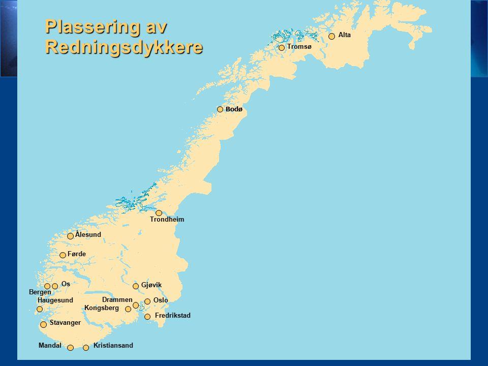 kjkjyhkhjkhjkkj Plassering av Redningsdykkere 4 Alta Tromsø Bodø