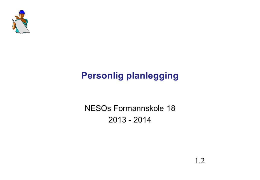 Personlig planlegging