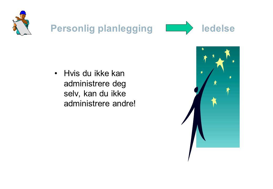 Personlig planlegging ledelse