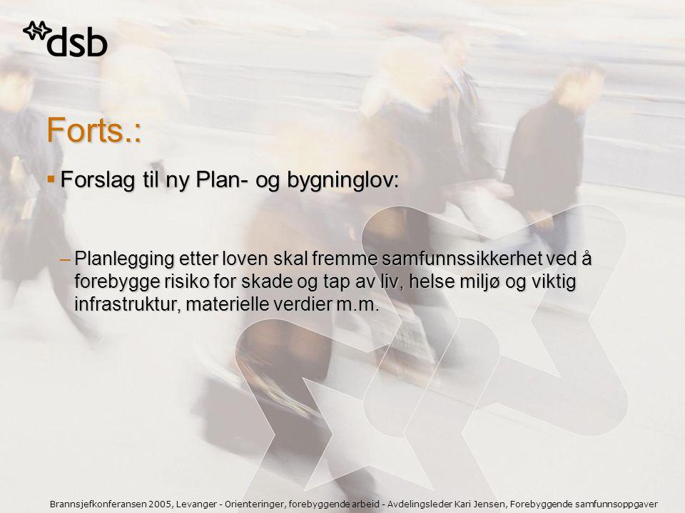 Forts.: Forslag til ny Plan- og bygninglov: