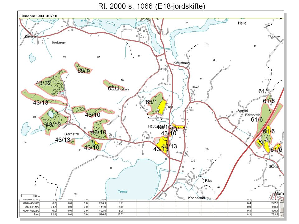 Rt. 2000 s. 1066 (E18-jordskifte)